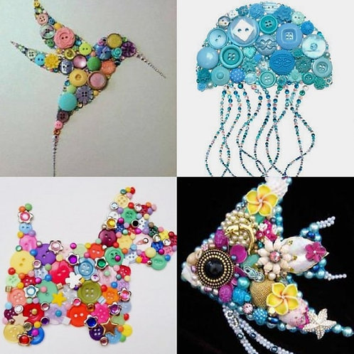 Button And Bling Animal Kit