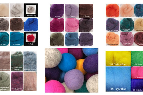 Felted Dryer Balls Instructional Video & Supply Kit