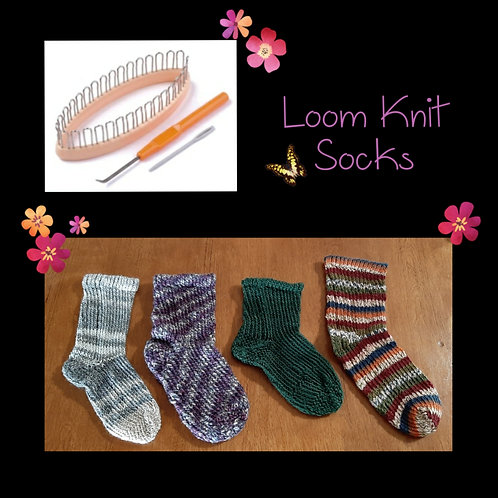 Loom Knit Sock Instructional Video & Supply Kit (With Yarn)