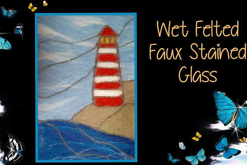 Wet Felted Faux Stained Glass Instructional Video & Supply Kit
