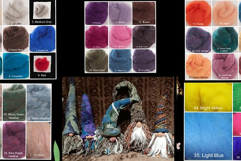 Felted Gnome Instructional Video & Supplies