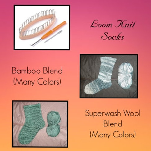 Loom Knit Sock Kit (With Yarn)