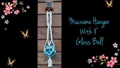 macrame wall hanger with 8 glass ball.jp