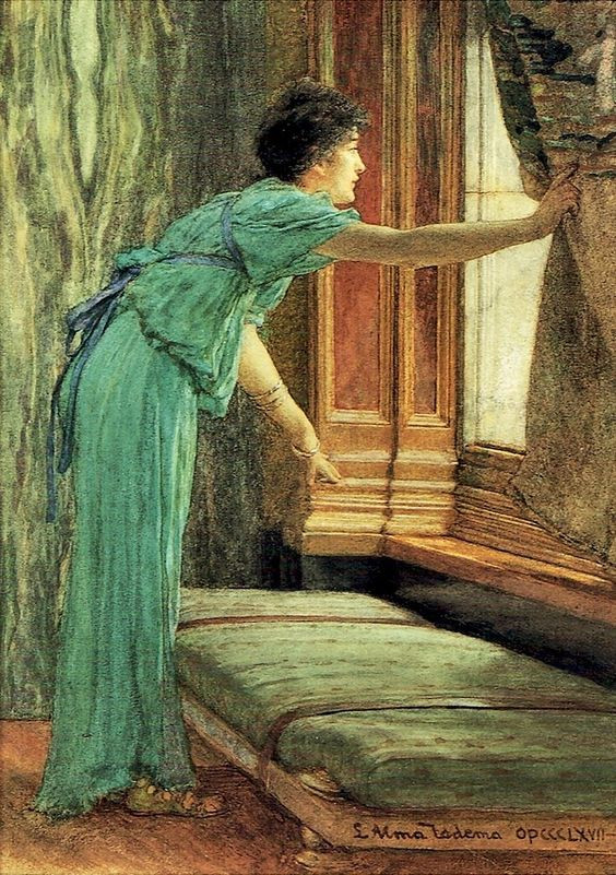 Impatient (Expectation) by Sir Lawrence Alma Tadema