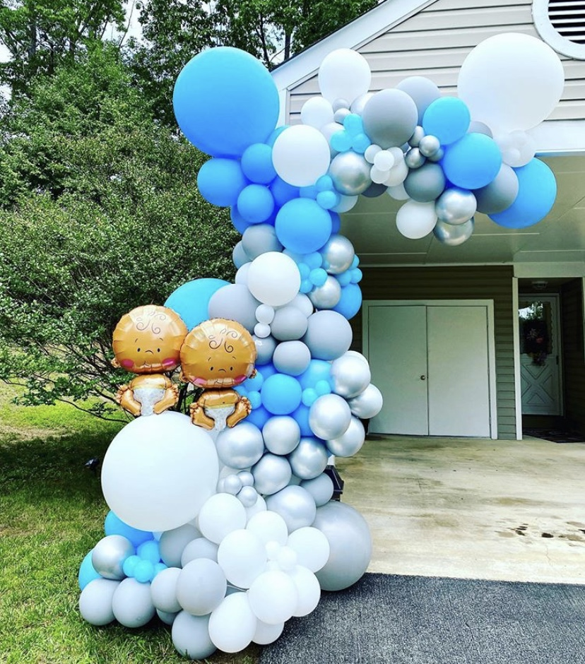 Twins Baby Shower Balloons