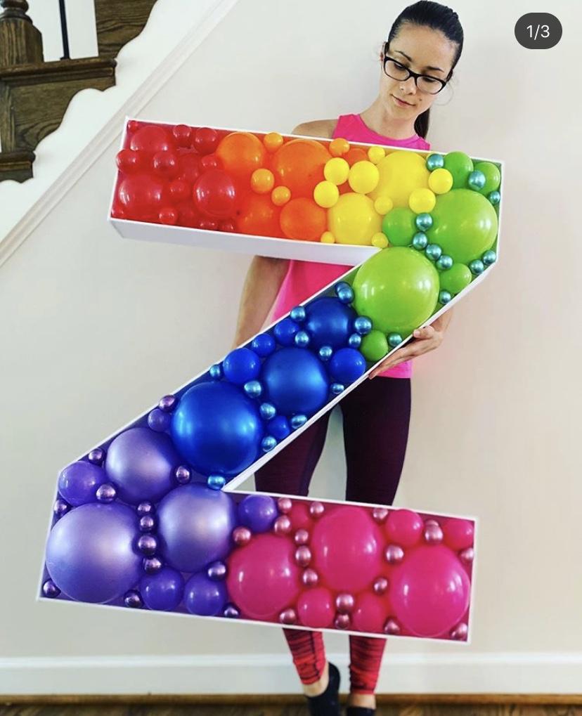 Mosaic Balloon Letter