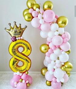 Princess Balloons for 8th Birthday