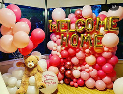 Balloon Wall in Pink