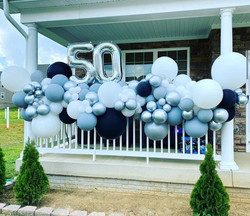 Organic Balloon Garland for 50th Birthday