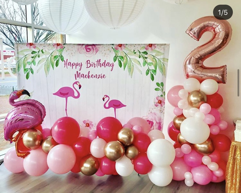 Organic Balloons Columns for 2nd Birthday