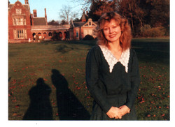 Jackie Researching at the Arthur Findlay College, Stansted, UK
