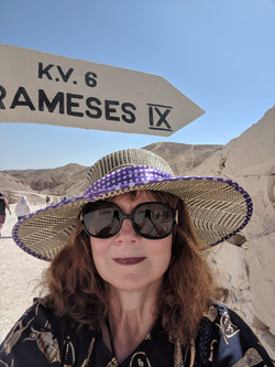 Jackie Researching in Israel - Click Right Corner Cross to Return to Gallery.