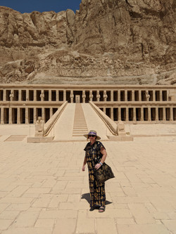 Jackie Researching in Egypt - Click Right Corner Cross to Return to Gallery.