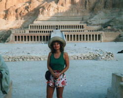 Jackie Researching in Egypt