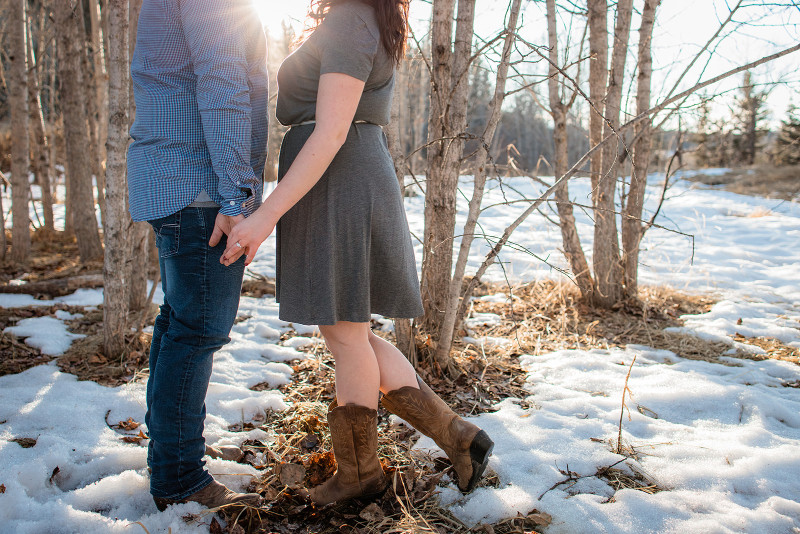 Alberta Engagement Photos with Cowboy Boots