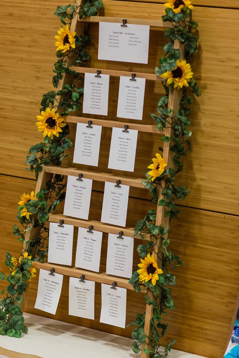 wedding seating chart in Calgary