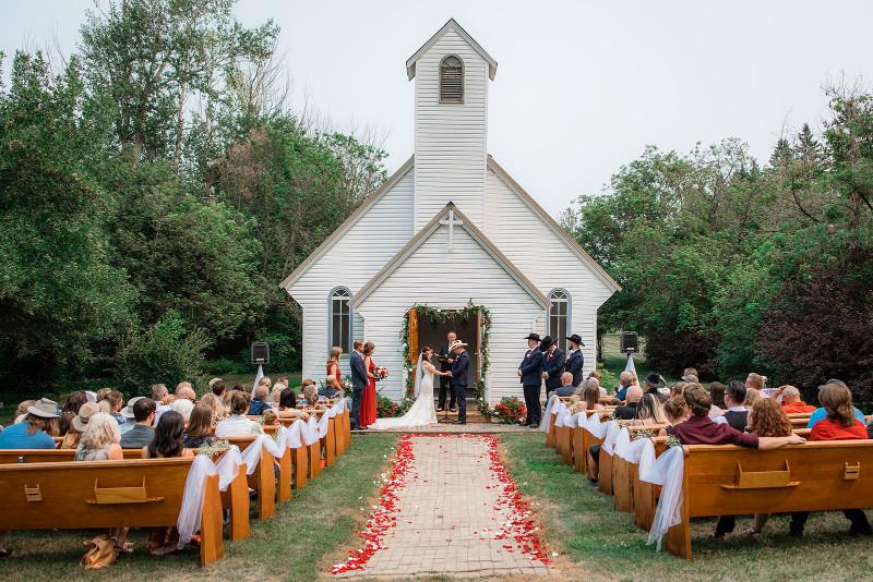 Outdoor Church Wedding Ceremony