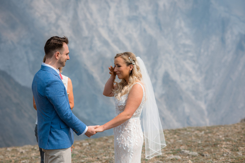 wedding ceremony in the Rocky Mountains
