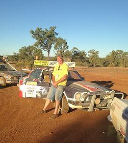Colin and his Jaguar Bash car