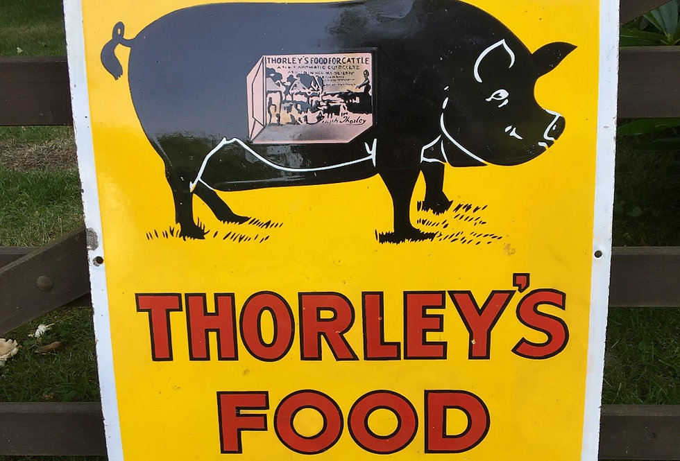 Thorley's Pig Food Enamel Sign