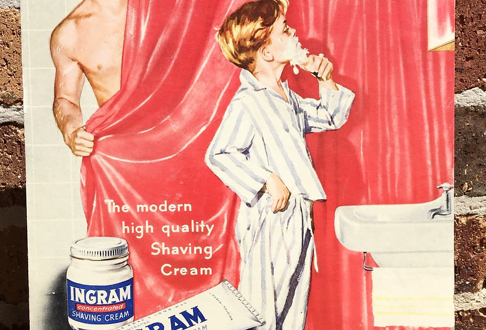Ingram Shaving Cream Original Showcard Front