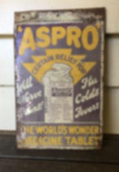 Aspro Vintage Tin Sign