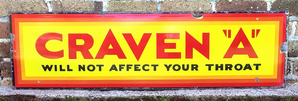 Craven A Tobacco Antique Enamel Sign