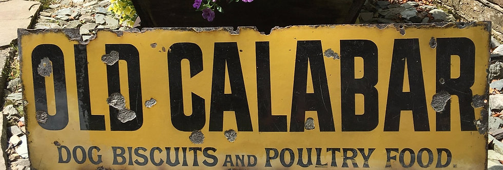 Old Calabar Dog Biscuit and Poultry Food Co Vintage Sign