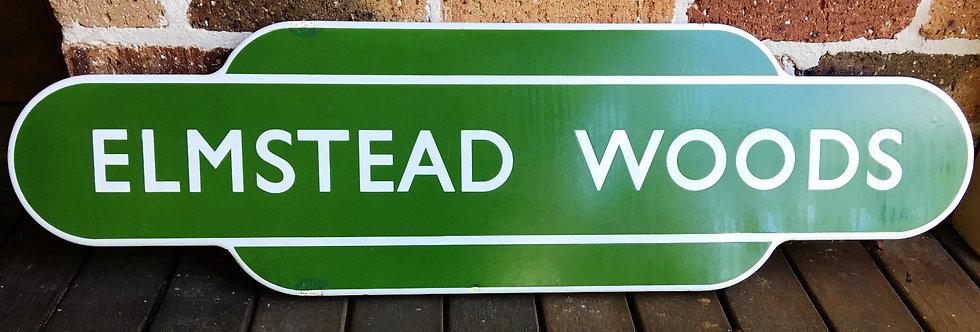 Elmstead Woods British Railway Sign