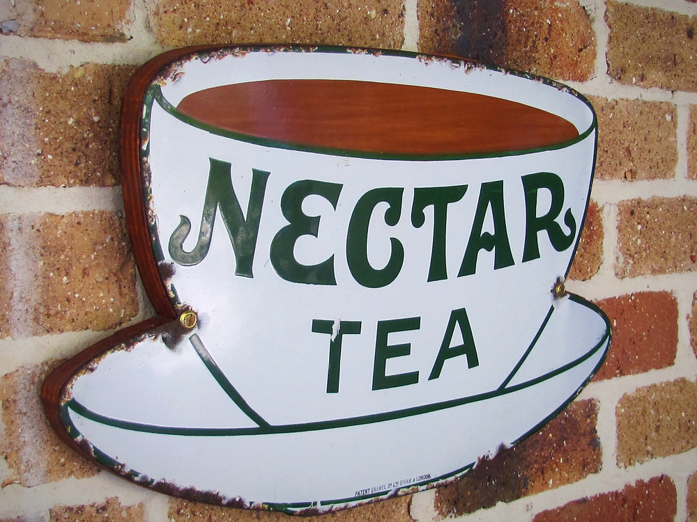 FOR SALE beautiful old tea sign