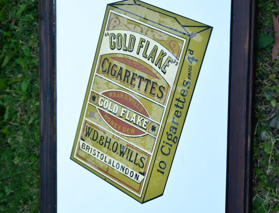 Wills Gold Flake Vintage Advertising Mirror