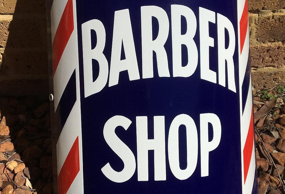 Barber Shop Vintage Mint Enamel Sign Front