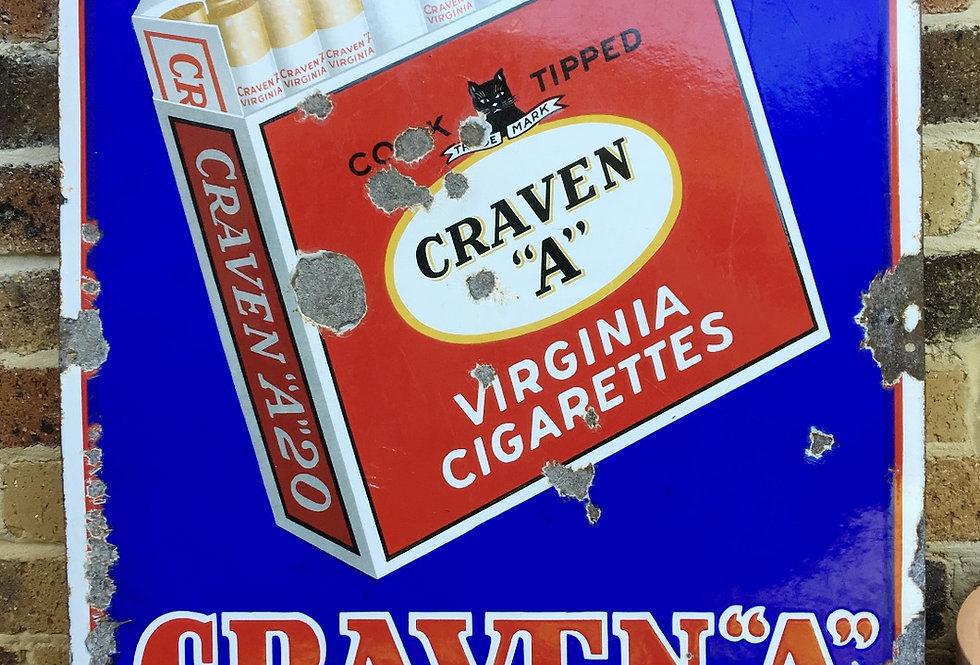 Blue Pictorial Craven A Enamel Sign
