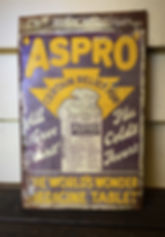Aspro Tablets tin sign sold to Michael.