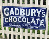 Original Cadbury's enamel sign