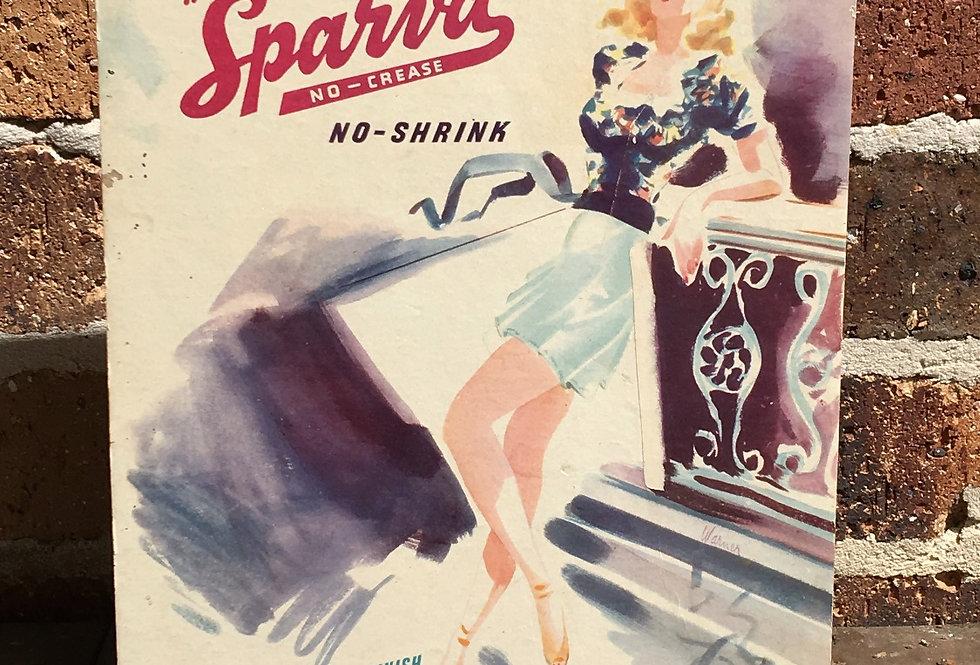 """Sparva"" Original Showcard"