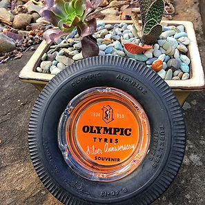 Unique Olympic Tyres ashtray.