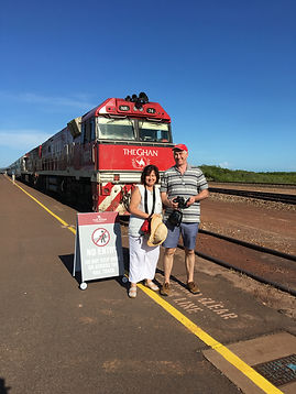 Veronic and Colin wit The Ghan
