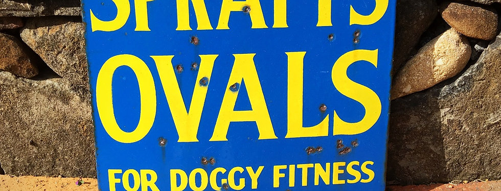 Spratt's Ovals For Doggy Fitness Vintage Sign