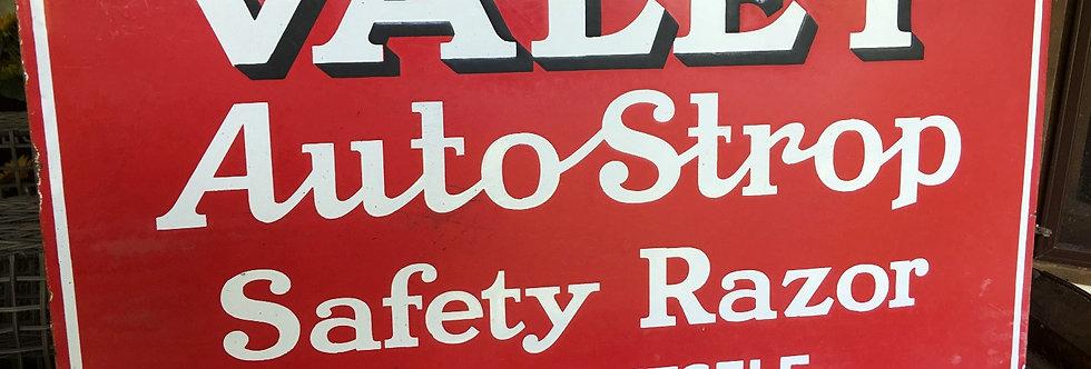 Valet Auto Strop Enamel Sign