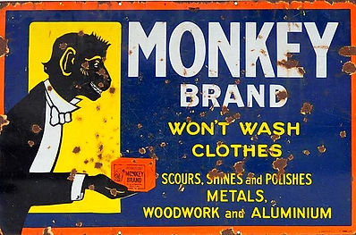A Monkey Band antique sign