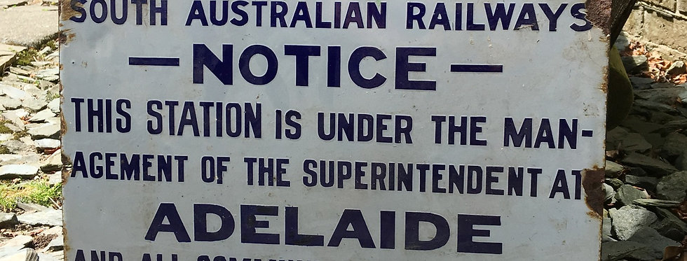 South Australian Railway Enamel Sign