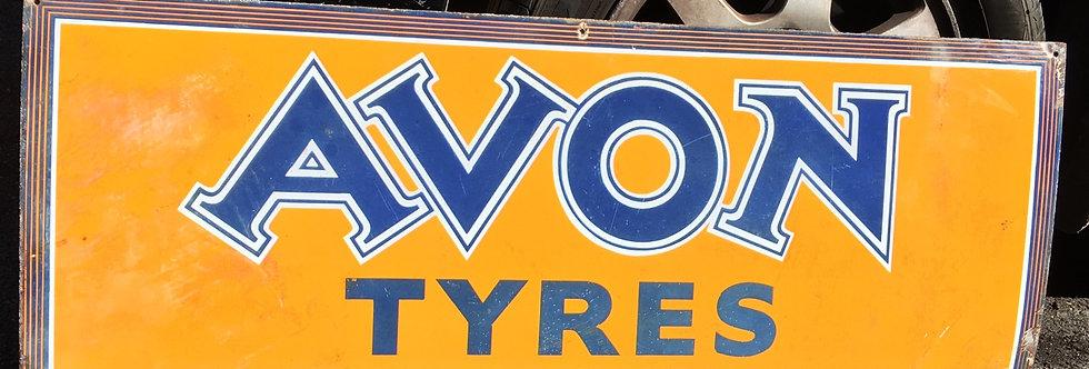 Avon Tyres Original Petrol Enamel Sign