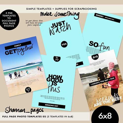 Full Page Photo Templates (No.2) - 6x8