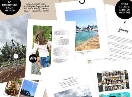 My Guided Album Template Set - A Yearly Scrapbook Solution (+ video tutorial)