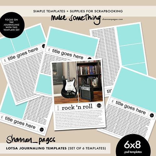 Lotsa Journaling Templates x 6 (6x8 PSD templates)