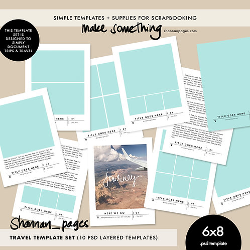 Travel Template Set (x10 psd templates in 6x8)