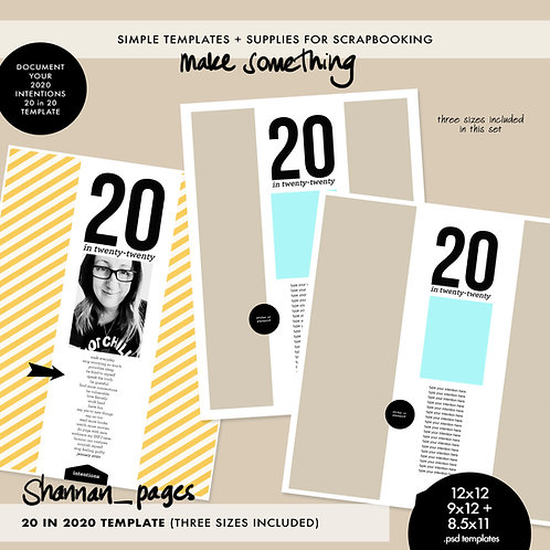 20in20 Template (in three sizes)