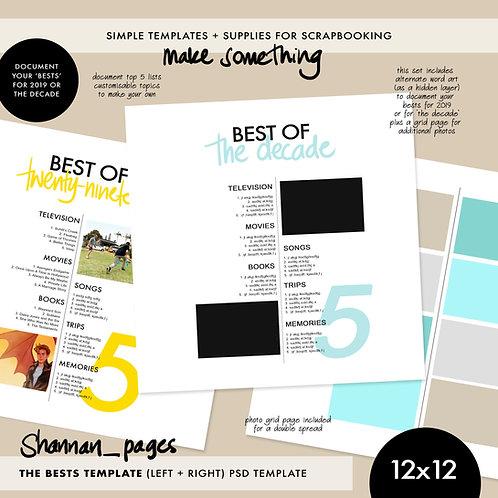 'Best Of' .psd template (12x12)