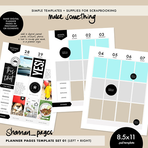 Planner Template - Double Spread (8.5x11)